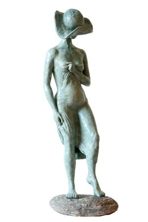 <b>A  woman near the river</b> - resin, h- 75 cm